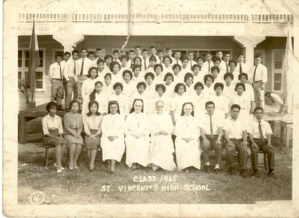 Class Pictures of the Different Batches 1965