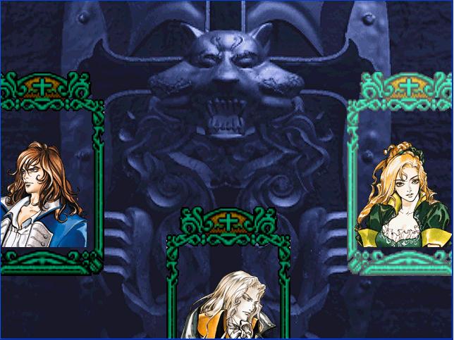 Player select Castlevania SOTN Screen3