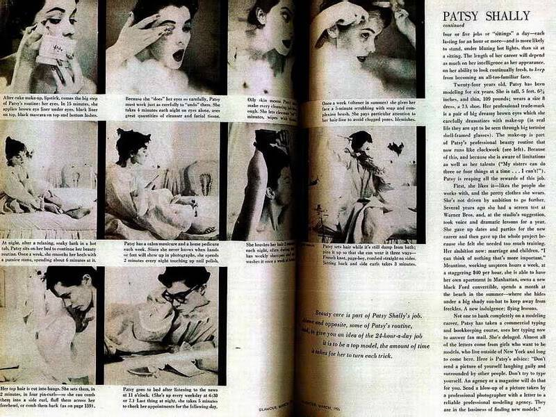 """2 Patsys: New Albums in """"Top 50's Models"""" B4B_PatsyShally_1956_Mar_Glamour-2"""