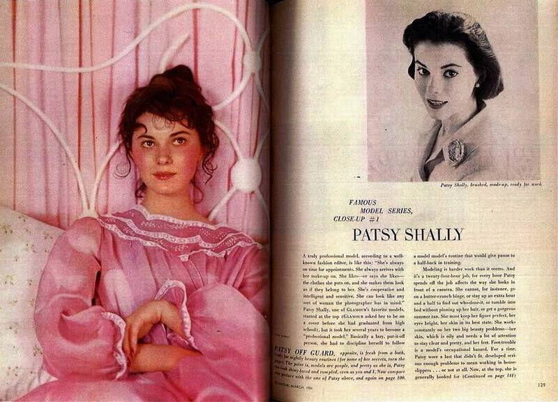 """2 Patsys: New Albums in """"Top 50's Models"""" B4b_PatsyShally_1956_Mar_Glamour-1"""