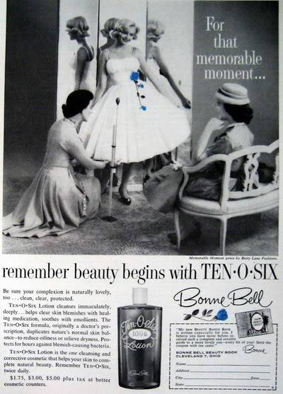 Model History ~ The Cover Girl Look  1961 Beauty Ads Blog_1961_Bonne_Bell_1961_Mar_AmGirl