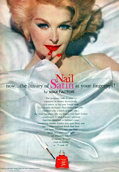 Model History ~ 1961 Beauty Ads ~ Cutex - Revlon Blog_1961_Max_Factor_1961_Sara_Thom