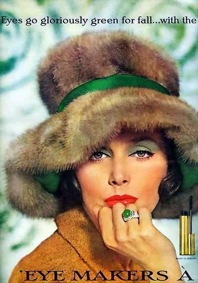 Model History ~ 1961 Beauty Ads ~ Cutex - Revlon Blog_1961_Revlon_1961_LucindaH_FreshEmeralds1