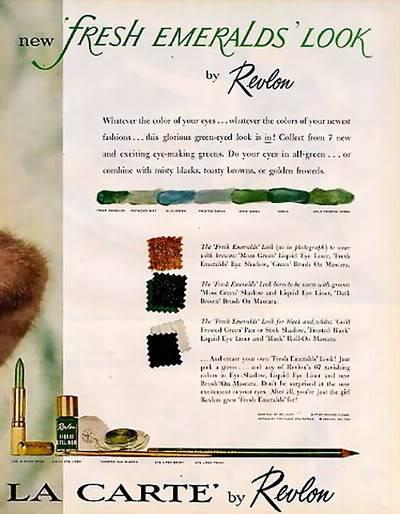 Model History ~ 1961 Beauty Ads ~ Cutex - Revlon Blog_1961_Revlon_1961_LucindaH_FreshEmeralds2
