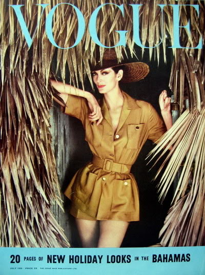 Carmen Dell'Orefice by Norman Parkinson ~ 1959 Vogue Blog_CarmenDO_1959_July_UKVogue_Cov