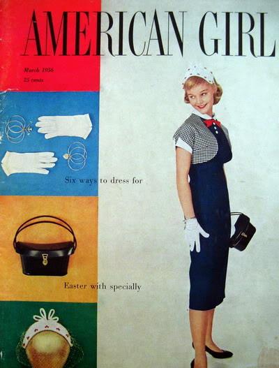 1950s Easter Ensembles ~ Carol Lynley & Sandra Dee Blog_CarolL_1956_Mar_AmGirl_Cover