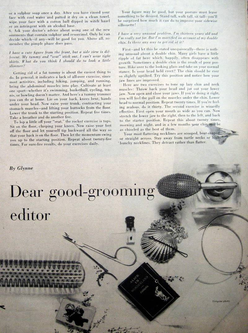 Good-Grooming Advice ~ Carol 1956 & Colleen 1960 Blog_CarolL_1956_Sep_AmGirl_Good-1