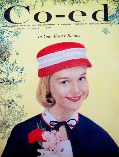 1950s Easter Ensembles ~ Carol Lynley & Sandra Dee Blog_CarolL_1957_Mar_Coed_Cover