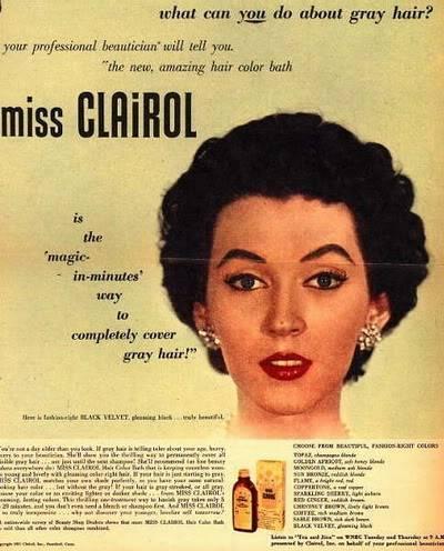 Evolution of Eyebrows ~ 1940s-1970s Blog_Clairol_1951_Dovima