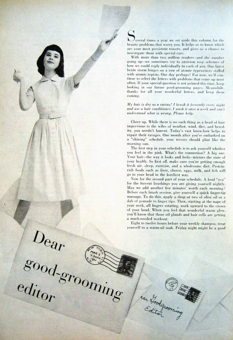 Good-Grooming Advice ~ Carol 1956 & Colleen 1960 Blog_ColleenC_1960_June_AmGirl_Good