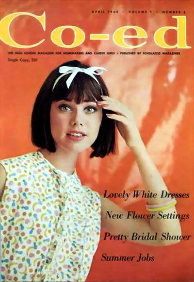 Colleen Corby ~ From Teen Model to High Fashion Model Blog_ColleenC_1964_Apr_Coed_Cover