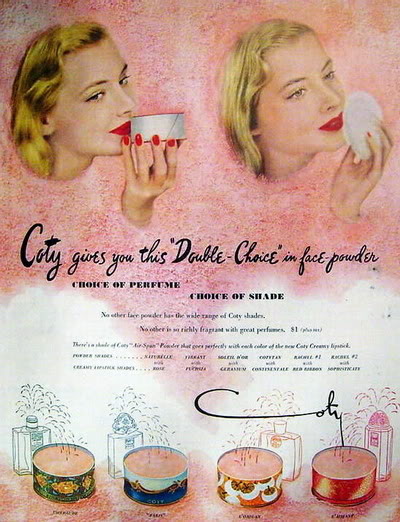 NEW Coty Ads 1940s-1950s Blog_Coty_1949_Double_Choice_Powder