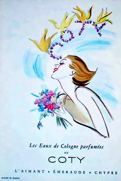 NEW Coty Ads 1940s-1950s Blog_Coty_1950_Birds_French