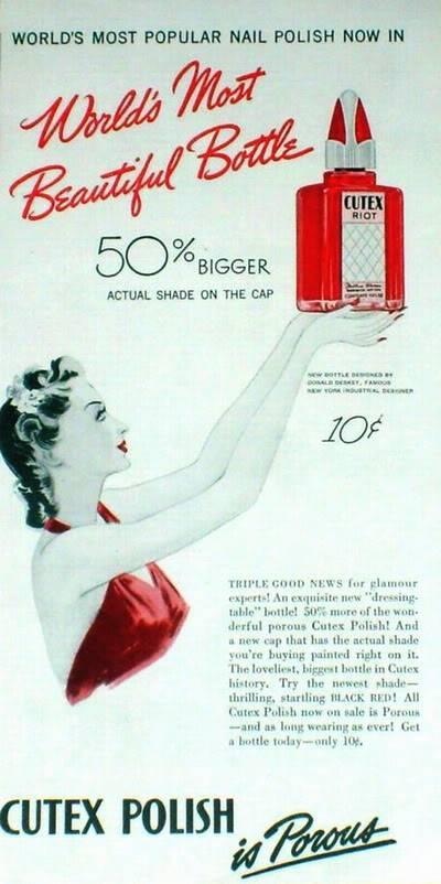 NEW Cutex Ads 1940s Blog_Cutex_1941_Beautiful_Bottle