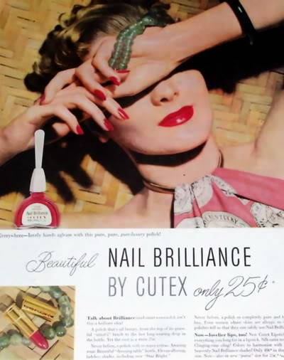 NEW Cutex Ads 1940s Blog_Cutex_1949_Green_Beads