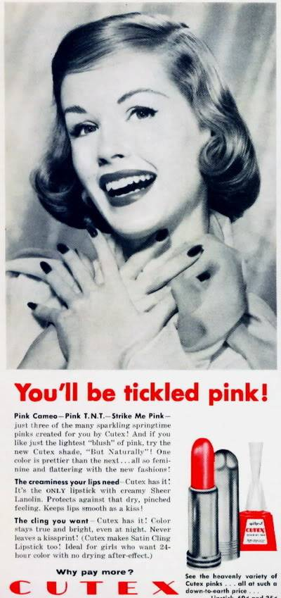 NEW Cutex Ads 1950s Blog_Cutex_1957_ElinorR_Tickled_Pink