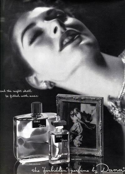 NEW Beauty Ads ~ 1950s Blog_Dana_1955_NancyBerg_Tabu_BP