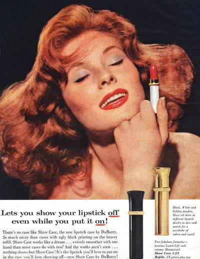 NEW Beauty Ads ~ 1950s Blog_Du_Barry_1956_SuzyP_ClosedEyes