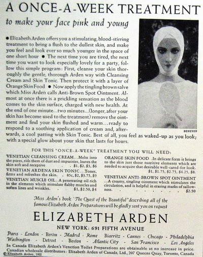 NEW Elizabeth Arden Ads ~ 1932-1974 Blog_ELizabeth_Arden_1932_OnceWeek_Skin