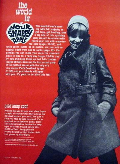 SIXTIES/SEVENTIES SUPER MODELS Blog_Fall_1966_Oct_Coed_21_SarahV_ColdSnapCoat