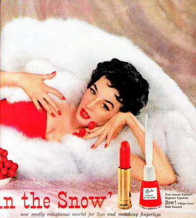 "Revlon's ""Fire & Ice""~ Dorian Leigh Blog_FireIce_1953_DorianL_Cherri-1"
