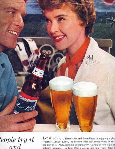 Helen Ryan ~ From Junior Model to Housewife and Mother Blog_HelenR_1950s_Carling_Black_Label_Beer_Info