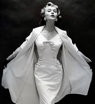 Helen Ryan in Black & White ~ 1950s-1960s Blog_HelenR_1950s_DressCoat_BW