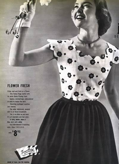 Helen Ryan ~ 1950s Teena Paige Ads Blog_HelenR_1951_May_17_TeenaPaige_FlowerFresh