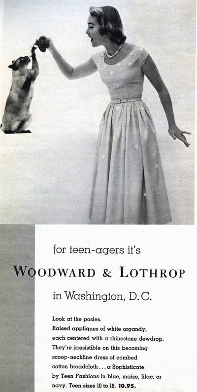 Helen Ryan ~ From Junior Model to Housewife and Mother Blog_HelenR_1951_May_17_Woodward_Lothrop_Teenagers