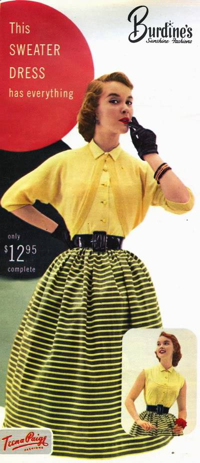 Helen Ryan ~ 1950s Teena Paige Ads Blog_HelenR_1953_Mar_17_TeenaPaige_SweaterDress