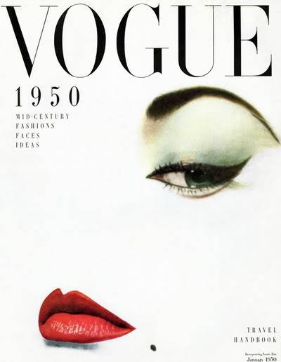 Evolution of Eyebrows ~ 1940s-1970s Blog_JeanP_1950_Jan_Vogue_Cover_Erw