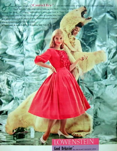 """Coral Ice"" 1957 ~ Jean Patchett & Carol Lynley Blog_JonathanLogan_1957_June_17_Car"