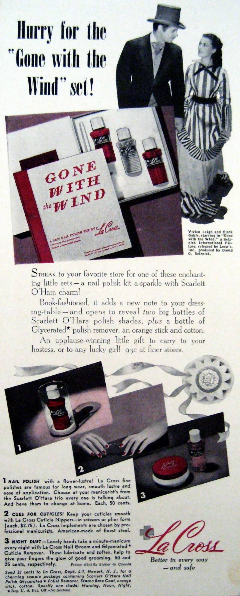 "RARE ""Gone With The Wind"" Makeup Ads 1939 & 1940 Blog_LaCross_1940_GWTW_VivienLie-2"