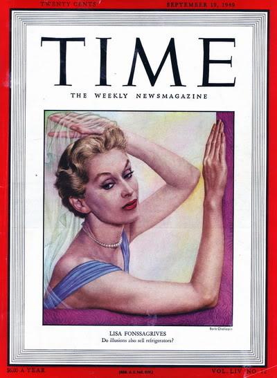 Model History ~ Lisa Fonssagrives Penn in Maternity Fashions 1952 Blog_LisaF_1949_Sep19_Cover_BorisChaliapin