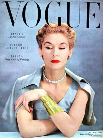 Model History ~ Lisa Fonssagrives Penn in Maternity Fashions 1952 Blog_LisaF_1950_May1_Vogue_Cover_JohnRawlings