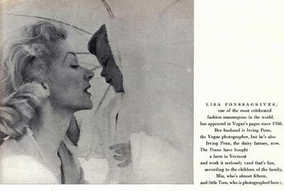 Model History ~ Lisa Fonssagrives Penn in Maternity Fashions 1952 Blog_LisaF_1956_Vogue_TomPenn_IrvingPenn