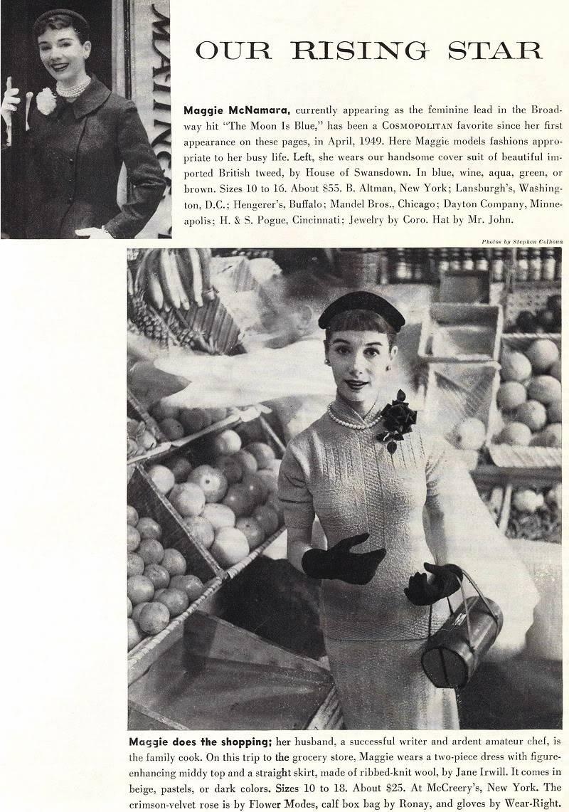 "New Album in ""Top 50's Models"": Maggie McNamara Blog_MaggieMcNamara_1952_Sept_Cosmo"