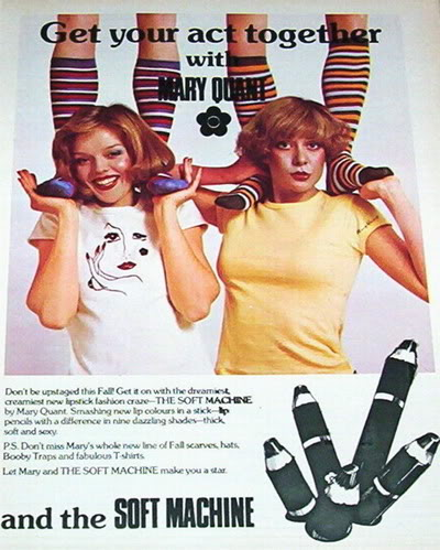 NEW Mary Quant Cosmetics & Perfumes Ads 1970s Blog_MaryQUant_1976_Striped_Socks_M