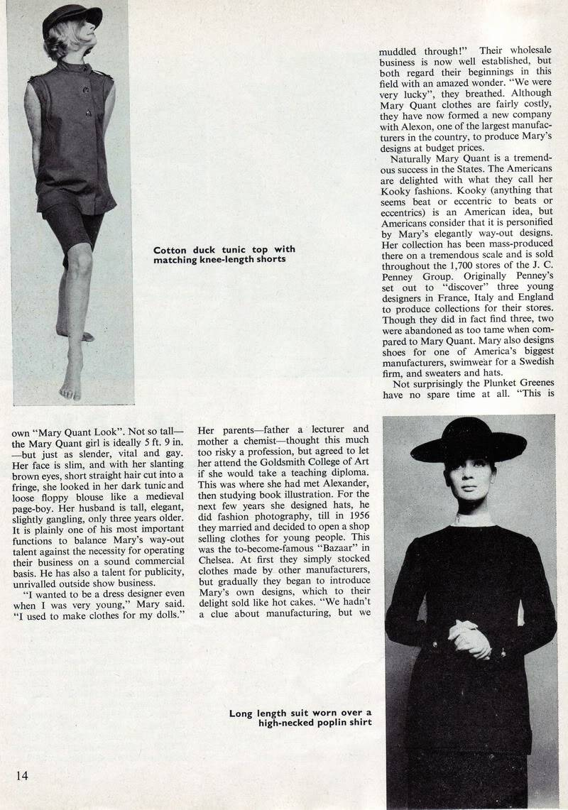 Mary Quant 1963 ~ Rare British Teen Magazine Blog_MaryQuant_1963_Aug_Elizabet-2