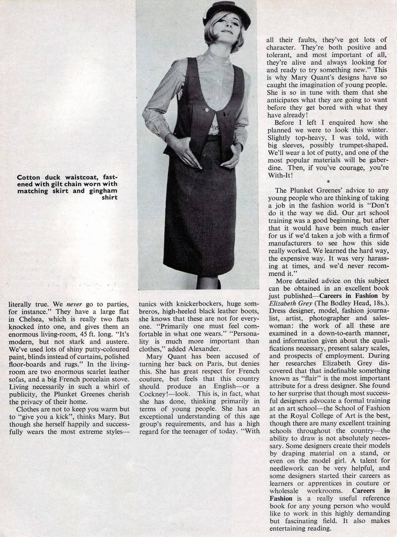 Mary Quant 1963 ~ Rare British Teen Magazine Blog_MaryQuant_1963_Aug_Elizabet-3