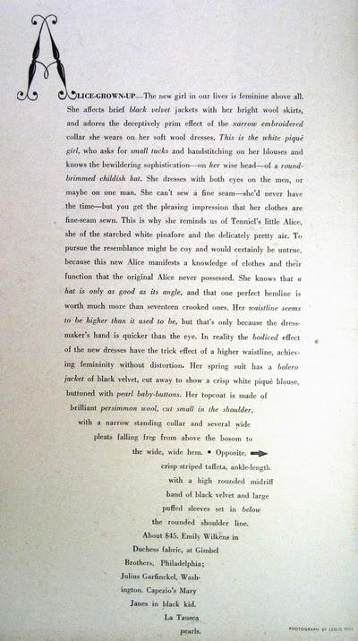 Pat Geoghegan ~ Alice: Grown-up in a New Wonderland 1947 Blog_PatG_1947_Feb_JrBazaar_64_Alice_Text