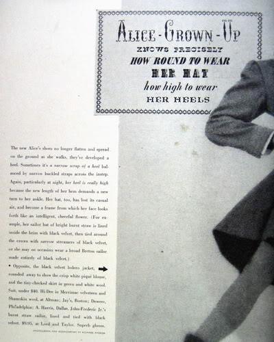 Pat Geoghegan ~ Alice: Grown-up in a New Wonderland 1947 Blog_PatG_1947_Feb_JrBazaar_70_Alice_Text
