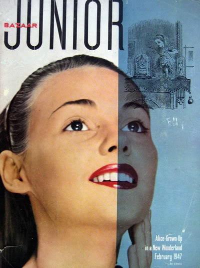 Pat Geoghegan ~ Alice: Grown-up in a New Wonderland 1947 Blog_PatG_1947_Feb_JrBazaar_Cover_Alice_RAvedon_Paint