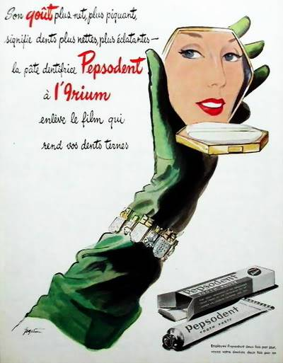FORTIES/FIFTIES SUPER MODELS - Click Here Blog_Pepsodent_1945_French