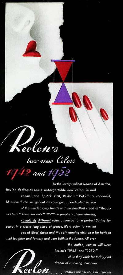 FORTIES/FIFTIES SUPER MODELS - Click Here Blog_Revlon_1942_Lipsticks_1942_195