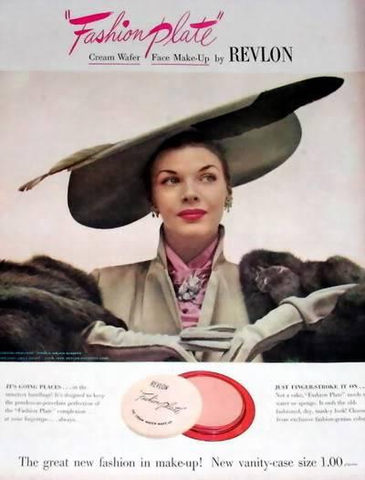 NEW Revlon Ads ~ 1940s Blog_Revlon_1948_Fashion_Plate_Hat