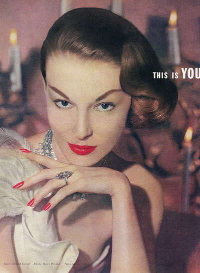 FORTIES/FIFTIES SUPER MODELS - Click Here Blog_Revlon_1952_Mary_Jane_Russell_