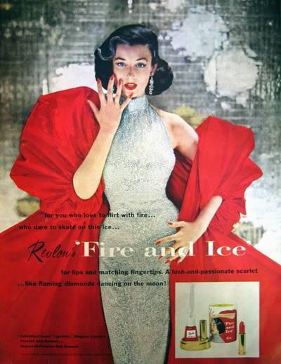 """Revlon's """"Fire & Ice""""~ Dorian Leigh Blog_Revlon_1952_Nov_LHJ_DorianLeig"""