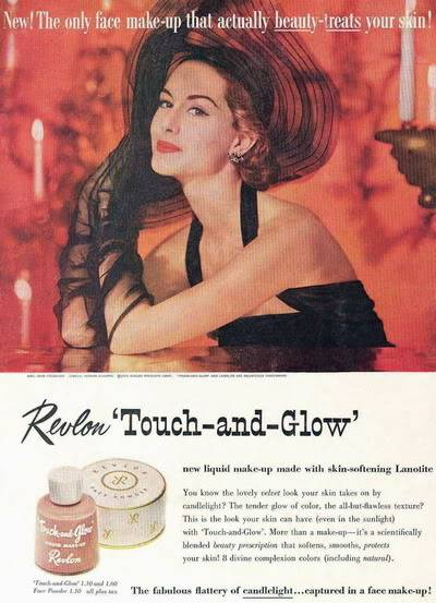 NEW Revlon Ads ~ 1950s Blog_Revlon_1953_NancyBerg_TouchGlo