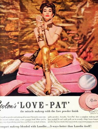 NEW Revlon Ads ~ 1950s Blog_Revlon_1954_NancyBerg_GoldPink